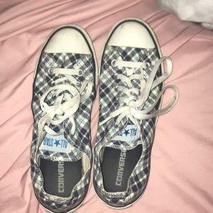 Plaid patterned Converse